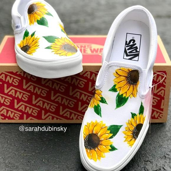 Vans Shoes | Sale Custom Sunflower